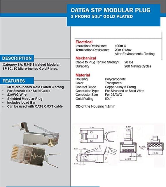 cat6a stp rj45 shielded modular plug 10 pieces amazon in rh amazon in RJ11 to RJ45 Wiring-Diagram RJ11 Wiring-Diagram