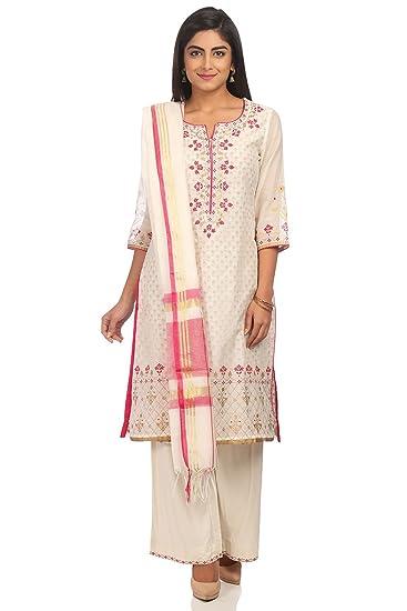 c5db6df3a71 BIBA Women s Straight Salwar Suit  Amazon.in  Clothing   Accessories