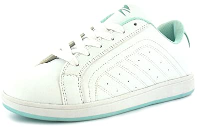 341950d80cd Girls White Lace Up Tennis Style Trainers - White Aruba - UK SIZE 13 ...