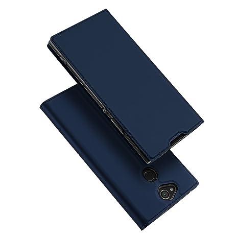 DUX DUCIS Sony Xperia XA2 Plus Hülle,Flip Folio Handyhülle,Magnet,Standfunktion,1 Kartenfach,Ultra Dünn Schutzhülle für Sony