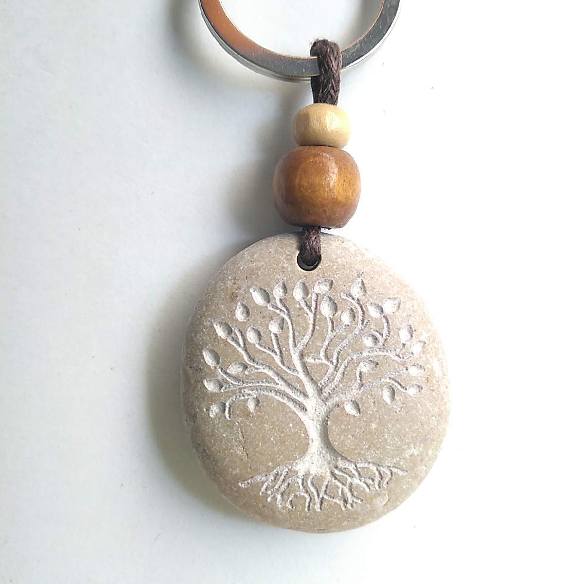 CARVED KEYCHAIN TREE OF LIFE