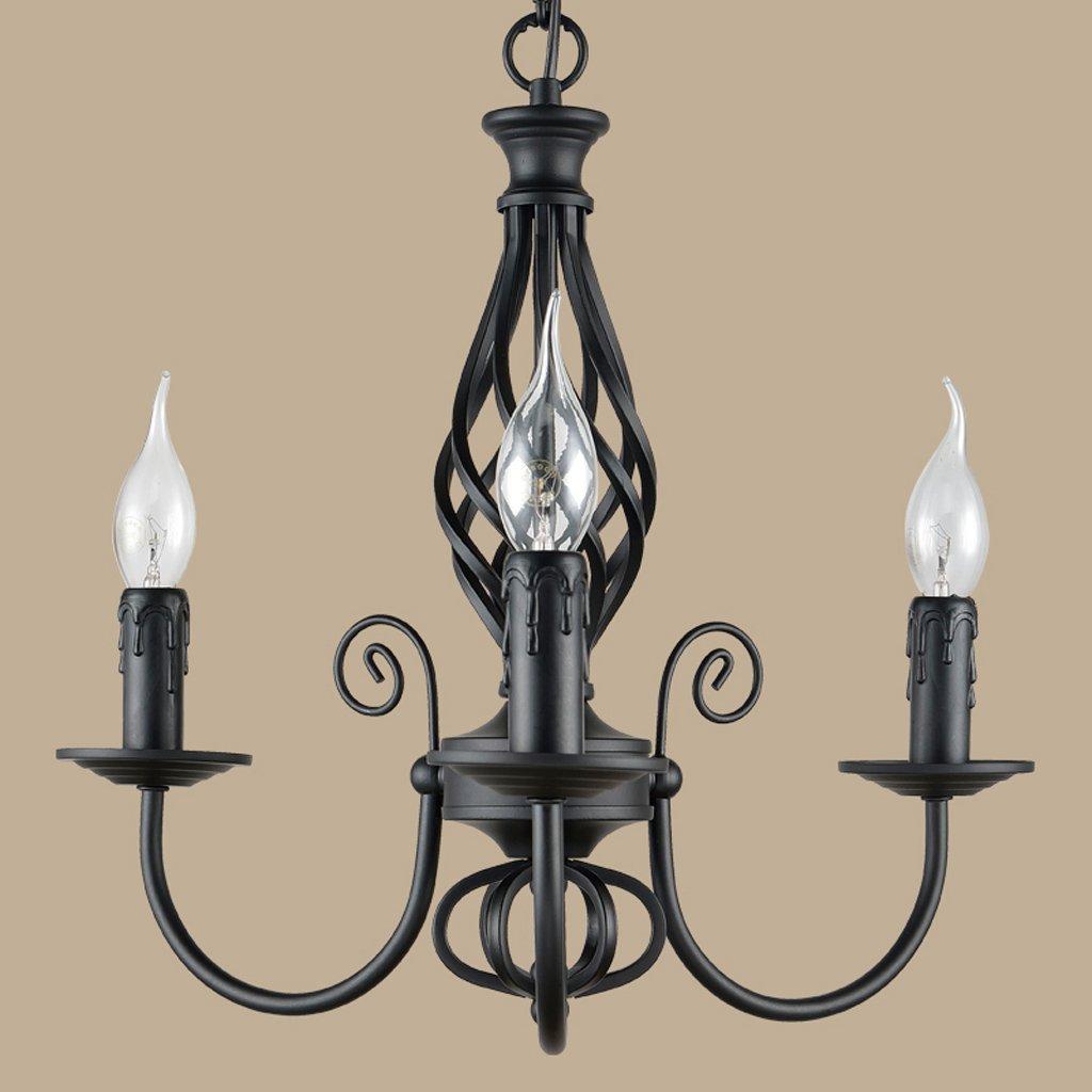 Colore : Bianca-5 teste Buona lampadario In ferro battuto ...