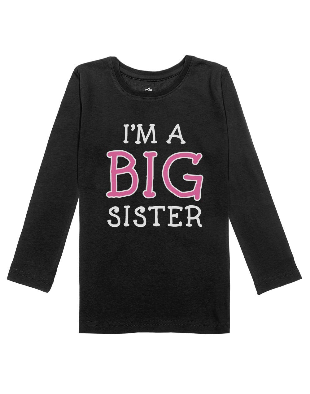 I'm The Big Sister Cute Sibling Gift Girls Toddler Long Sleeve Fitted T-Shirt