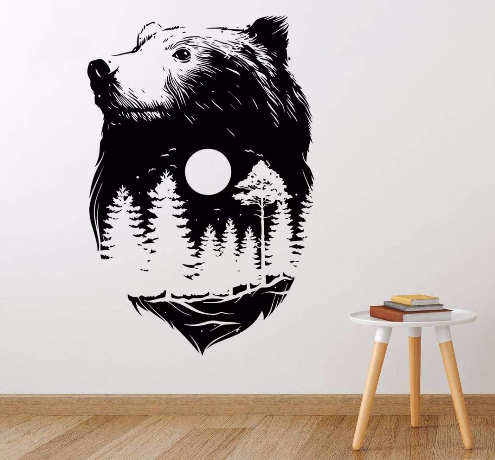 zhuziji Forest Bear Wall Sticker Nuevo diseño Nature Spirit Wall ...