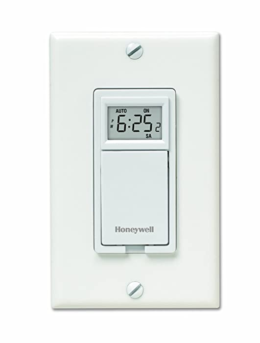 Honeywell RPLS530A 7-Day Programmable Timer Switch, White (Requires 40 W Minimum)
