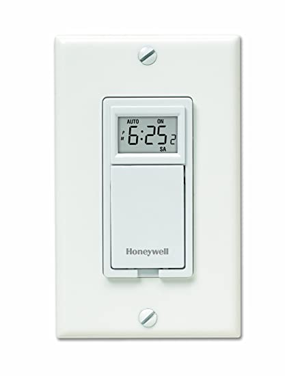 Honeywell RPLS530A 7-Day Programmable Timer Switch, White (Requires on honeywell light switches, honeywell rpls730b manual, honeywell rpls740b1008, honeywell econoswitch,