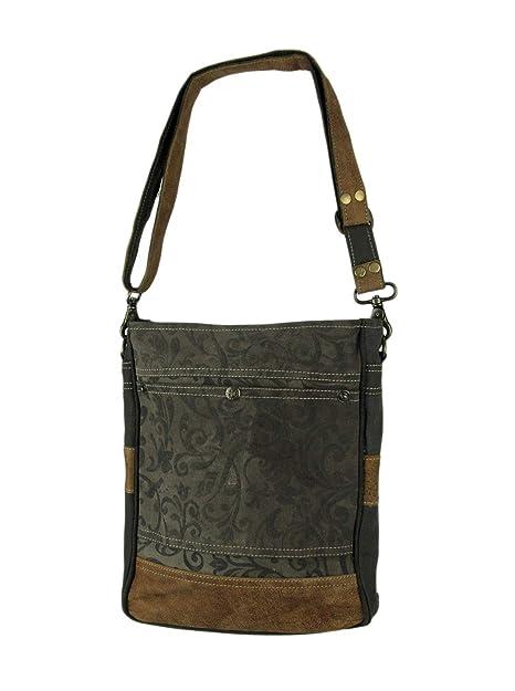 Amazon.com: Myra Bag S-1362 - Bolso de hombro de tela de ...