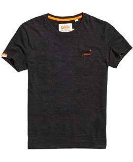 2cb5621671 Superdry Mens Orange Label Vintage Embroidery T-Shirt Dark Smoke Grit Grey
