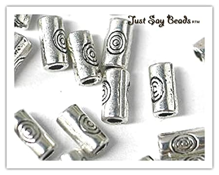 Pcs Art Hobby Jewellery Making Tibetan Tube Spacer Beads 4mm Antique Silver 50