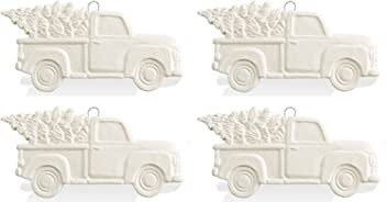Paint Your Own Adorable Ceramic Keepsake The Lovable Antique Truck with Holiday Tree
