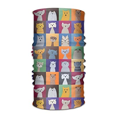 Bing4Bing Unisex Bandanas Balaclava Cap Turban Headscarf Sweatband Headwear Headscarf Cute Cat