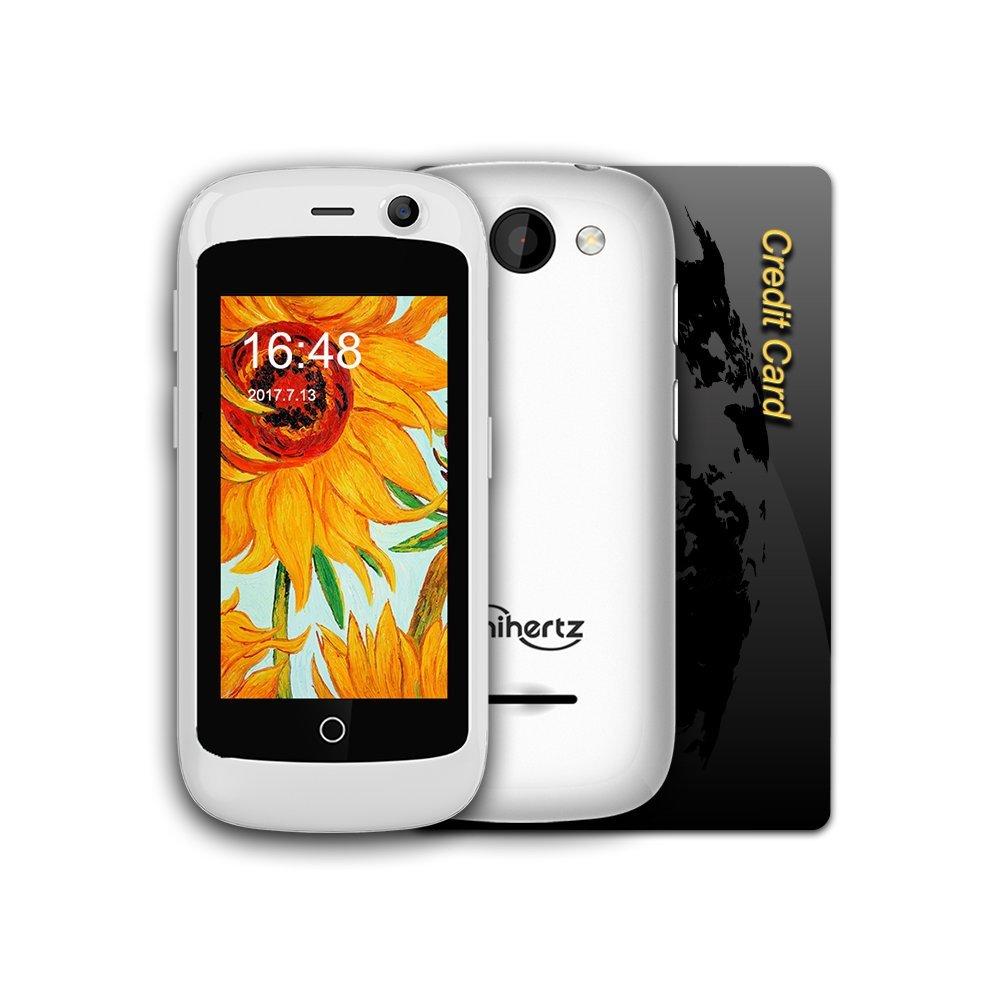 Unihertz Jelly Pro, el Smartphone 4G más pequeño del Mundo, Android 7.0 Nougat Smartphone Desbloqueado con 2GB de RAM y 16 GB de ROM, Blanco Perla: ...