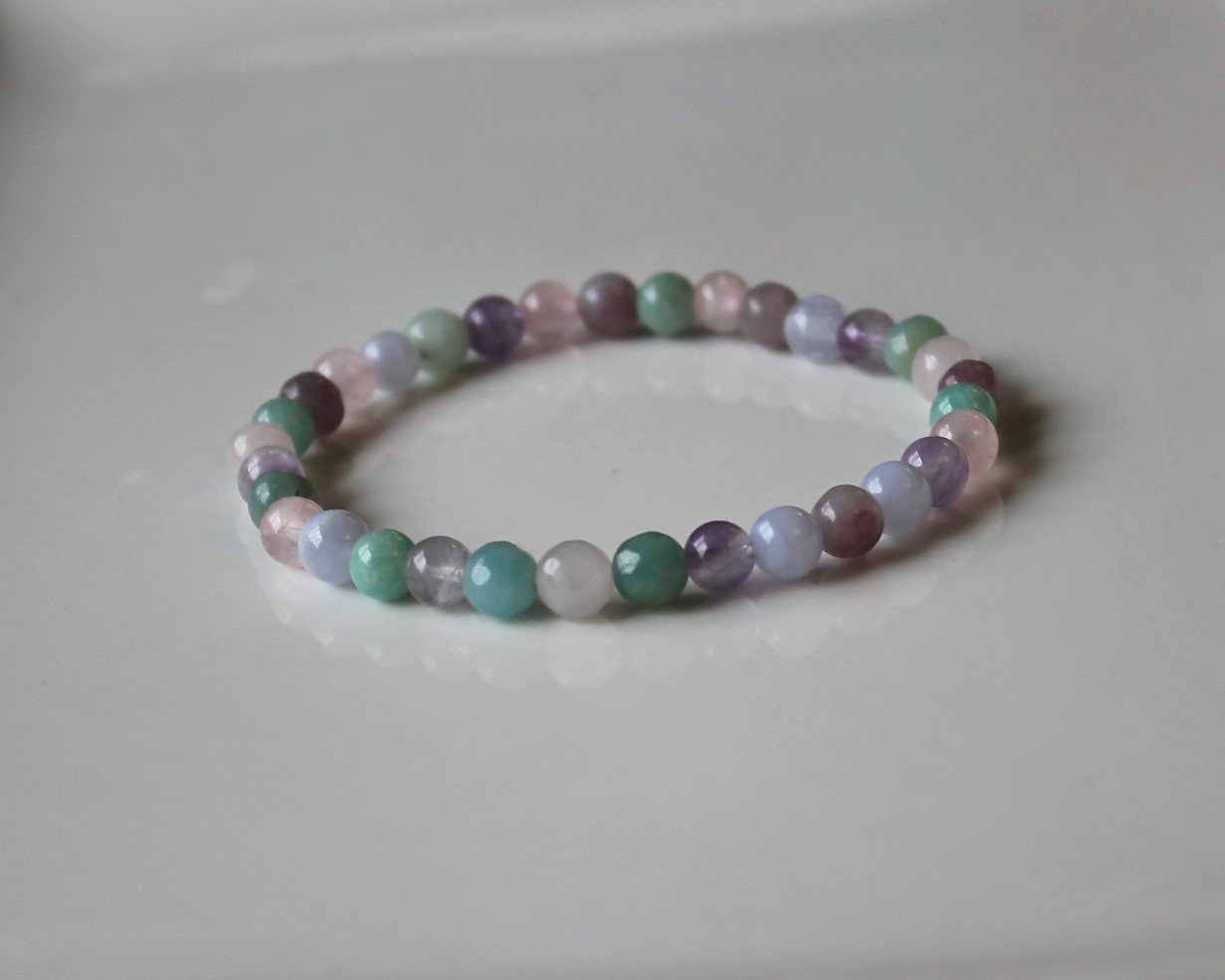 ANXIETY RELIEF BRACELET/Healing Crystal Bracelet/Stress Relief/Dispel negative energy