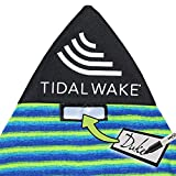 Tidal Wake TAG-IT Pointed Nose Green Surf & Wake Board Sock Bag with Built-in Name Tag, Personalize - Small 52-53' Green & Blue...