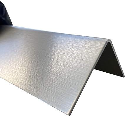 kreativ bauen 200cm Edelstahl L-Blech Schenkel 5,5x2cm Edelstahl Kantenschutz 2000mm 55x20 mm K240 geschliffen V2A 0,8mm stark Blechwinkel Kantenschutz Leiste