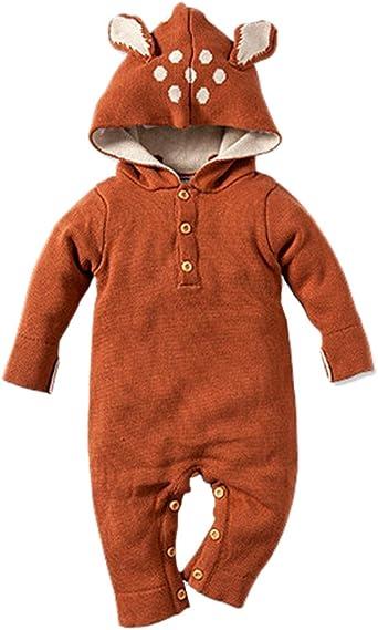 Tortor 1Bacha Newborn/'s Hooded Rompers Outwears Baby/'s Zipper Jumpsuits