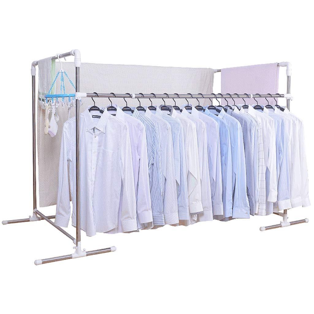 衣服ハンガー伸縮式ステンレス鋼コンビネーション乾燥ラックフロアバルコニークールハンガー屋外乾燥キルトラック B07HWP5Y2C