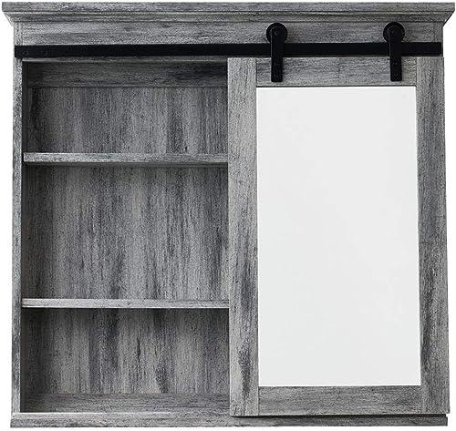 Glacier Bay 31 in. x 29 in. Barn Door Medicine Cabinet