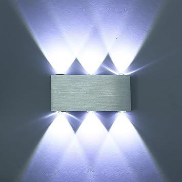 Blanc Aluminium Applique 5050 Amzdeal® 18w Led Éclairage Decoratif Murale Lampe Smd Nnv0wOm8