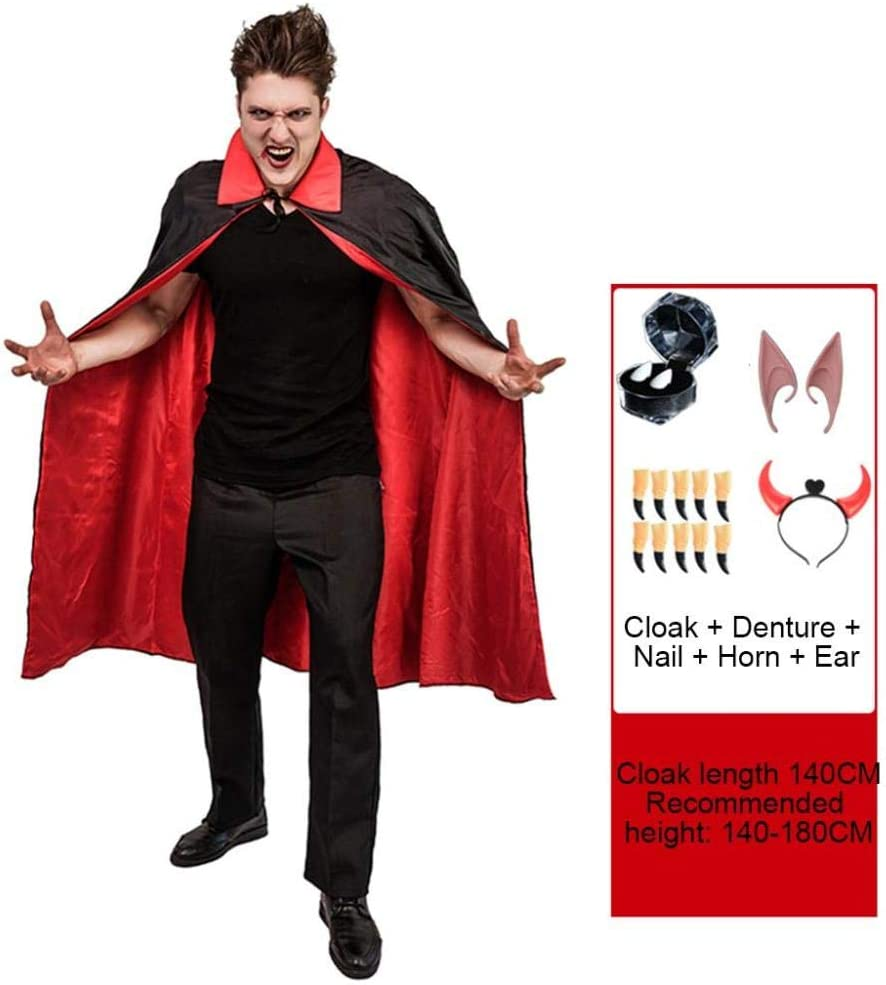 YYANG Cosplay Halloween Disfraz De Halloween para Niños Capa Negra ...