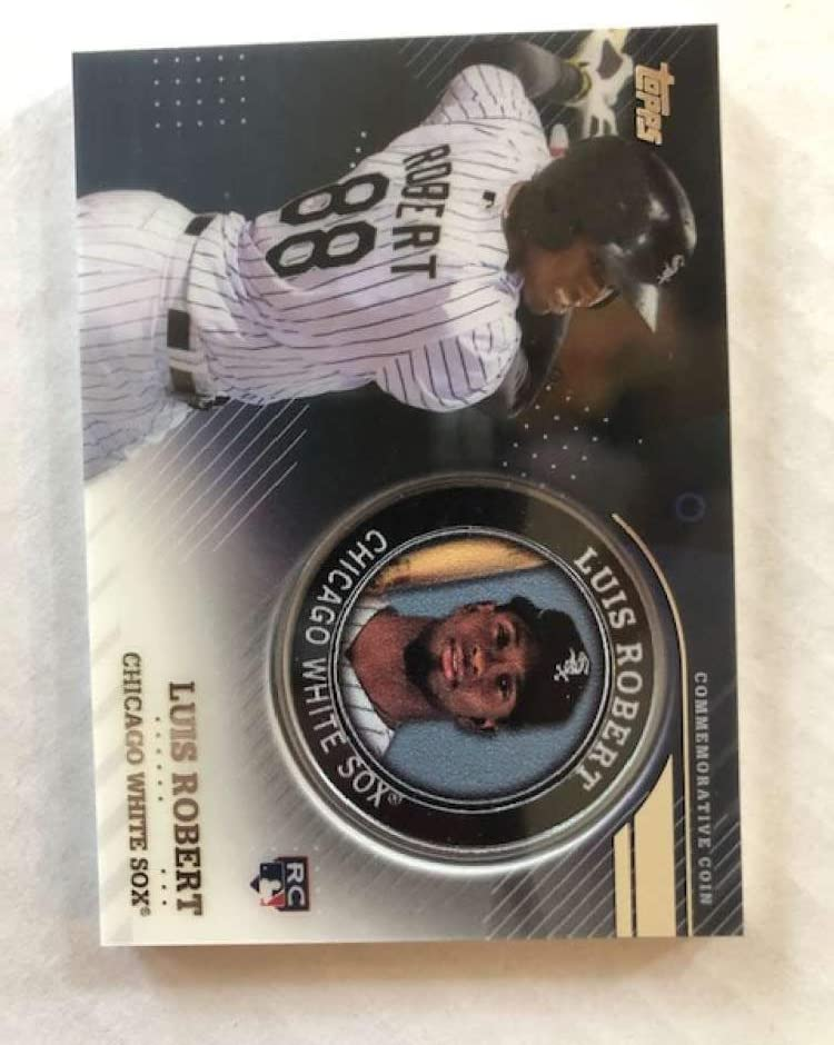 2020 Topps Series 2 Baseball Player Medallion Coin #TPM-LR Luis Robert Chicago White Sox RC Rookie Official Blaster Exclusive Trading Card