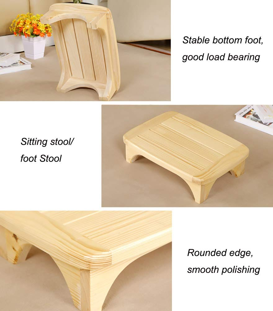 45/×32/×12cm Color : Carbonized color, Size : 45/×32/×12cm Closet Bathroom Easy Reach High Places in Kitchen Step Stools MYL Solid Wood Footstool//Step Stool for Adults Children