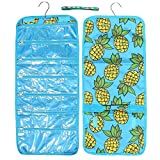 Best Pineapple Designer Large Hanging Jewelry Packing Travel Accessory Makeup Craft Bead Organizer Hanger Roll Set Unique Fun Top Gift Idea for Her Women Teen Girl Mother in Law Wife Young Ladies