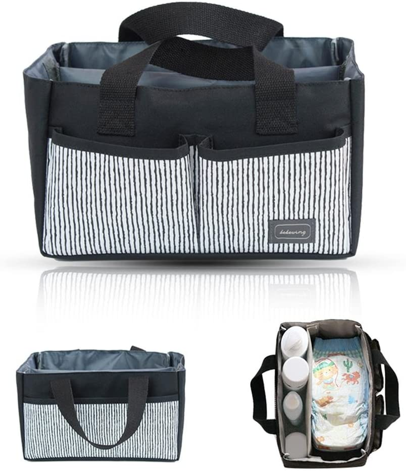 Foldable Basket for Boys Girls Nursery Storage Bin Diaper Tote Bag for Toys//Baby Essentials//Car Travel//Changing Table with Handle AOLVO Baby Diaper Caddy Organizer