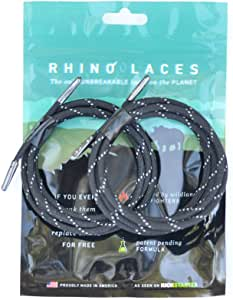 Rhino Laces Unbreakable Shoe Laces, Reflective Black, X-Large