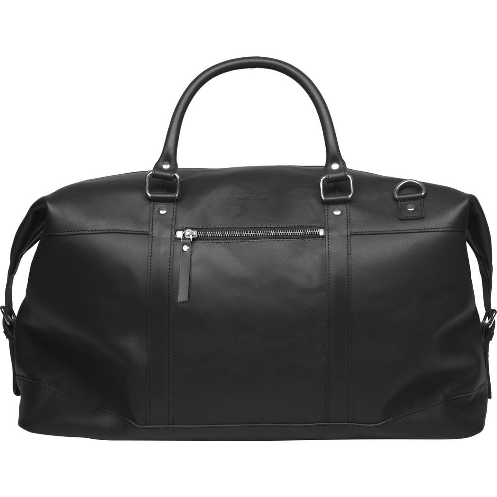 Sandqvist Jordan Weekend Bag - Black Leather