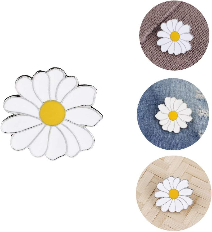Ogquaton Fleur de Marguerite Broches /Étiquette Pin Badges Veste Chemises D/écor Durable et Utile