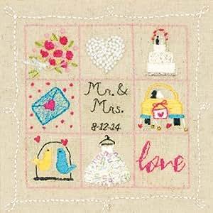 Dimensions Crafts 72-74052 Wedding Sampler Embroidery Kit