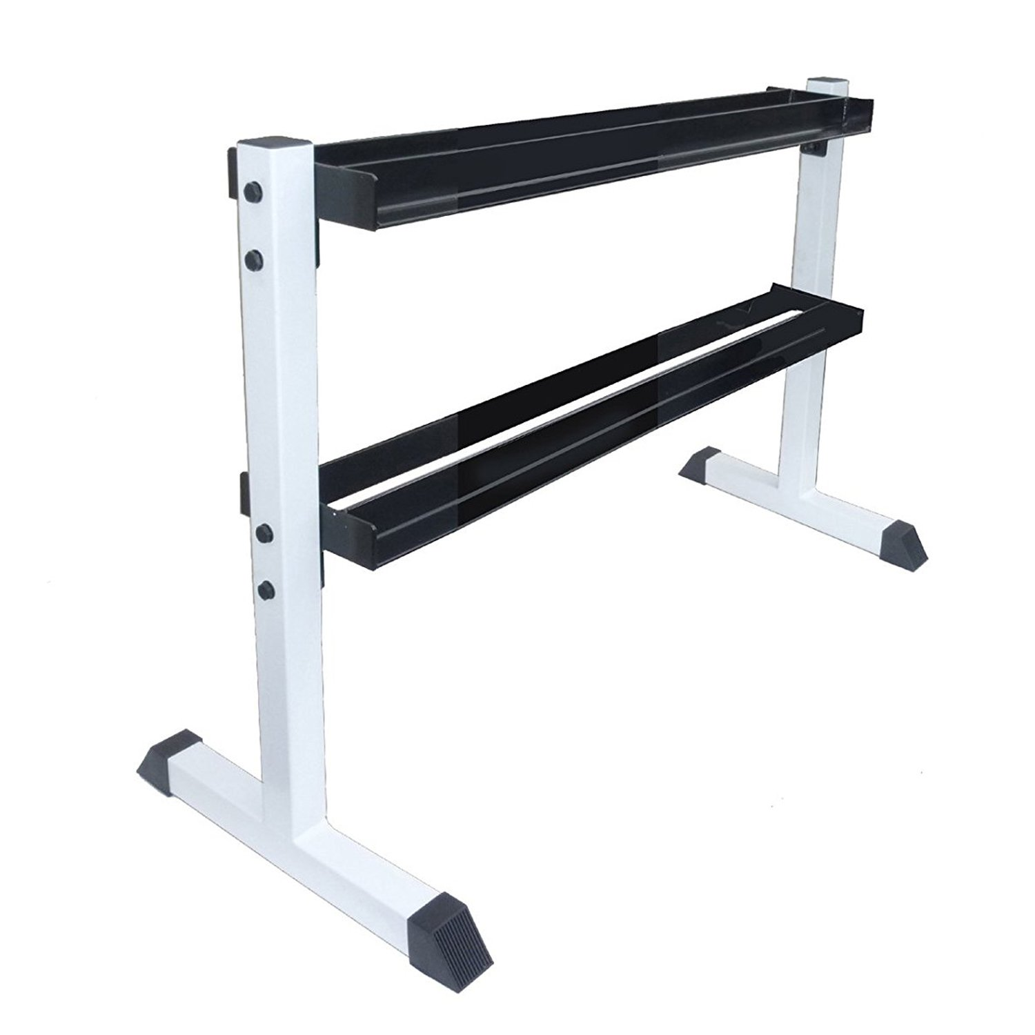Apollo Athletics 2-Tier Vertical Dumbbell Rack, Store Up to 275LBs of Weights