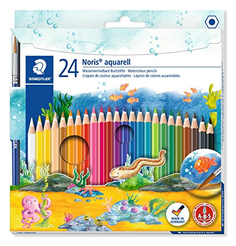 Staedtler 144 10NC24 Noris Club Aquarell Watercolour Pencils Plus Paint...