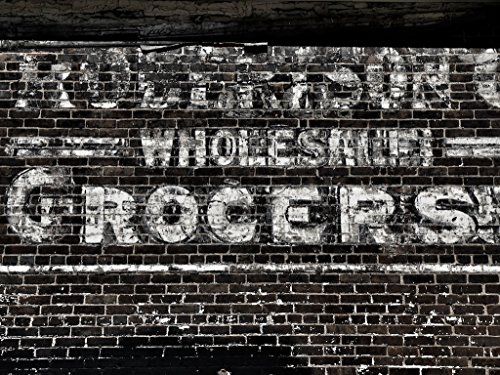 Black and White Kitchen Wall Decor, Black and White Photography, Retro Painted Ad, Old Grocery Store Sign, Robertson's Grocers - Robertson Stores