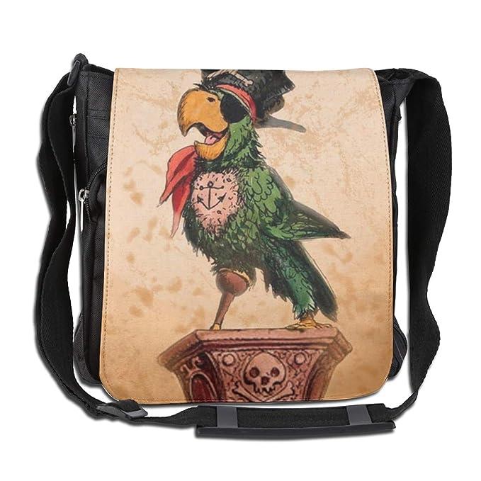 a4da713e15f79 Amazon.com: Rainbow Space Pirate Parrot Tattoo Men's Women Girls Boys  Shoulder Pack Outdoor Single Oblique Narrow Diagonal Bag: Clothing