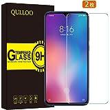 【2枚セット】QULLOO Xiaomi Mi 9 ガラスフィルム 強化ガラス 日本旭硝子素材 全面保護 硬度9H 飛散防止 指紋防止 自動吸着 気泡防止 Xiaomi Mi 9 液晶保護フィルム