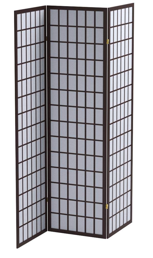 ORE International 3-Panel Room Divider, Cherry by ORE
