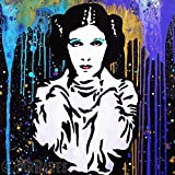 MR.BABES - ''Star Wars: Princess Leia Organa (Carrie Fisher)'' - Original Pop Art Painting - Movie Portrait