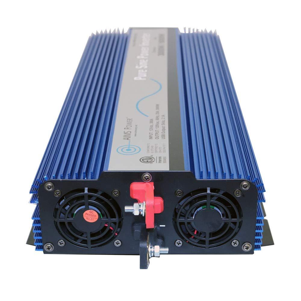 AIMS Power PWRI300012120SUL 3000 Watt Pure Sine Wave Power Inverter, ETL Listed by AIMS Power (Image #2)