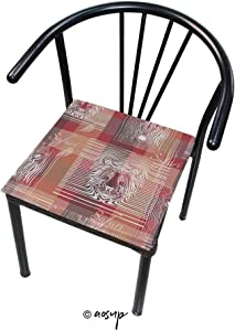 """YOLIYANA Square Chair Cushion Soft Thicken of The African Savannah Zebras and Tigers for Office, Home or Car Sitting Mat Square Dining Table Pad 16"""" x 16"""""""