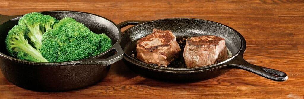 "Lodge Pre-Seasoned Cast Iron Combo Cooker, 2-Piece Set, 10.25"", Black: Campfire Cookware: Kitchen & Dining"