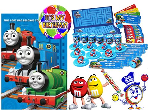 (Thomas The Tank Engine (8) Pre-Filled Toy & Candy Party Favor Goodie Bags! Plus Bonus