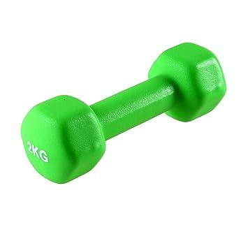 Tera 1pieza de hierro fundido y cómodo Hex mancuernas para gimnasio en casa brazo de entresacar figura moldeador Fitness mantener, Green 2kg/4.4lb: ...
