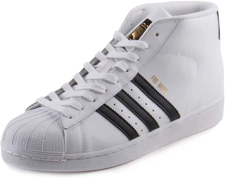 pro model adidas black and white