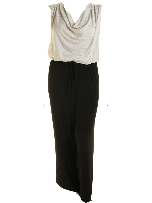 Calvin Klein Plus Size Cowl-neck Sequined Jumpsuit 24W Black