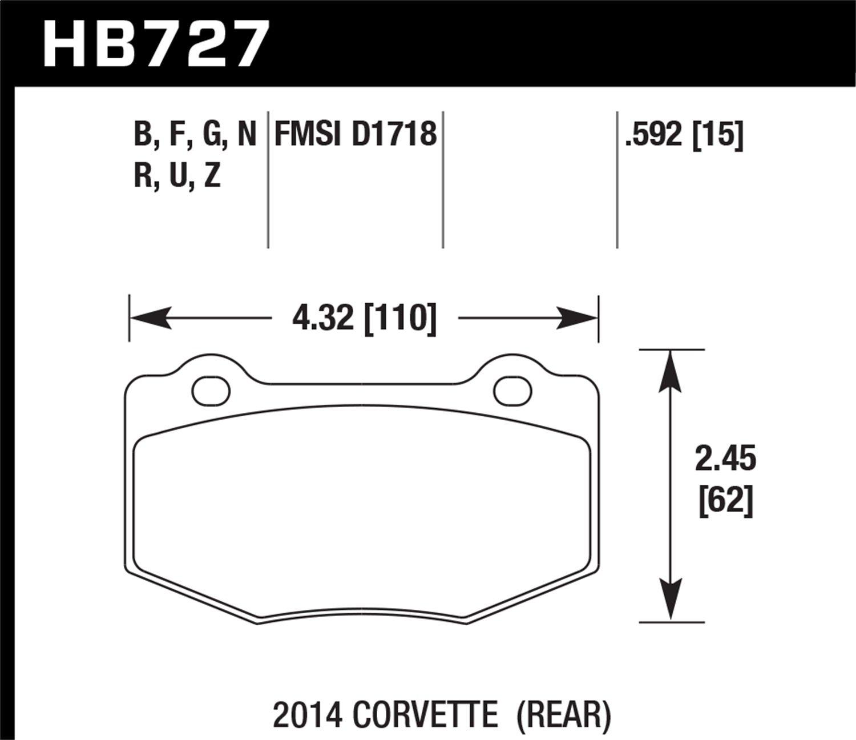 Hawk HB647B.692 High Performance Street 5.0 Brake Pads Front Set