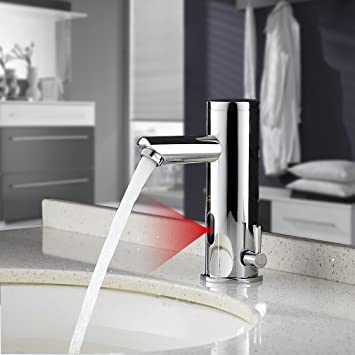 Auralum Automatic Sensor Touchless Faucet Bathroom Sink Brass Faucet ...