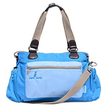 d9d3b9aeb358a Pierre Cardin PB88135-PN Baby Diaper Bag, Light Blue: Amazon.ae ...