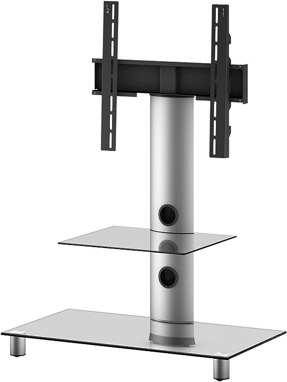 Elbe NEO-81-C-SLV - Mueble soporte para TV vertical, 80 x 86 x 44 cm, color cristal y plata: Amazon.es: Electrónica